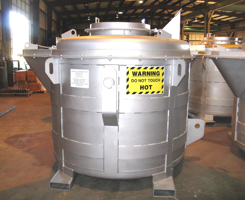 View Into A Crucible Of Molten Metal. Stock Photo - Image ... |Molten Metal Crucible